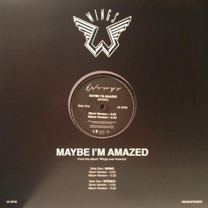 Maybe I'm Amazed [Live 12] (2013) (Promo) - Wings